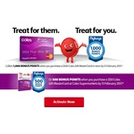 1,000 Bonus Points (Worth $5 FlyBuys) on a $100 Coles Prepaid Gift MasterCard [$105] at Coles for Flybuys Members