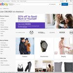 eBay Mother's Day Promo - 20% off Selected Stores, Up to 3 Transactions, Maximum Discount $1000 per Transaction