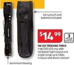 5W LED Trekking Torch for $14.99 @ ALDI