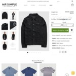 Mr Simple Black Denim Jacket. Was $169, This Weekend Price Is $50.70 (70% Discount)