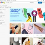 eBay - Take 10% off Everything (Min $75 Spend, Max $300 Discount)