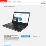 Lenovo ThinkPad E570p $1040 Delivered (i5-7300HQ, 8GB RAM, 128GB SSD, GTX1050ti 2GB)