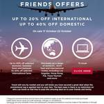 Up to 40% off Domestic & 10%-20% off International Flights @ Virgin Australia
