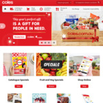 Coles Frenzy - $10 off + Free Delivery Min. Spend $130 (New Customers)