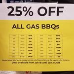 [QLD] Big W - 25% off All Gas BBQs (Browns Plains, Springfield)