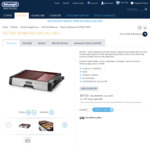 Electric BBQ Grill BG500C - $70.83 (60% OFF Inc Delivery @ DeLonghi Official Website)