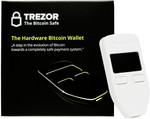 Trezor Hardware Wallet for Bitcoin and Etherum - €100 (~AU$157) Delivered to Australia (Save €14/~AU$22)