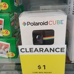 $1 Polaroid Cube Bike Mount @ BIG W (Was $29.95)