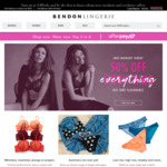 50% off Everything @ Bendon Lingerie Online