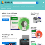 20% off all eSUN 3D Printing Filament at Cubic Technology