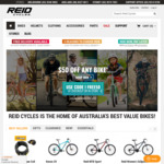 $50 off All Full Priced Bikes @ Reid Cycles