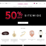 50% off Regular Price Site Wide $9.90 Shipping or Free with Min $100 Order @ Emma Roe
