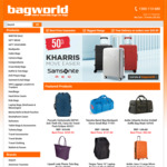 Samsonite Red Kharris Suitcases 50% off + $5 Coupon Code at Bagworld, Includes Free Shipping