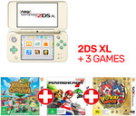 Nintendo New 2DS XL Console: Animal Crossing Edition + Mario Kart 7 + Yo-Kai Watch 2 for $189.05 + Delivery @ EB Games eBay