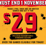 [PS4/XB1] Red Dead Redemption 2 $29 When Trading in 2 Eligible Games @ EB Games