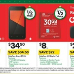 Vodafone Pocket Wi-Fi 4G R216 + 5GB $29.50, Vodafone $30 Starter Kit 30GB for $8, Nokia 3 $119 @ Woolworths