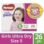 50% off Huggies Ultra-Dry Nappy Pants Size 4, 5 and 6 (Boys & Girls) $8.50/Pk @ Coles