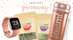 Win a 30 Day Detox, Rose Gold Tumbler, and a Rose Gold Fitbit Smartwatch Worth $304 from Teami Blends