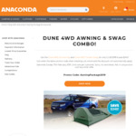 DUNE 4WD Awning & Swag Combo for $199 (RRP $399) @ Anaconda (Free Membership Required)