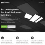 [NSW] LED Lighting Upgrade for Small Businesses in Sydney $33 @ Ezy Quotes