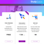 25% off ALL Pre-Kindy to Year 6 Online Learning Lessons & Practice Questions ($7.50 /Week) @ Study Space App