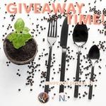 Win a Set of Matt Black Cutlery from Noshik and @Cookielessvee on Instagram