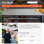 Win a Colorbond Steel Roof Worth $20,000 or 1 of 3 Colour Consults Worth $2,000 from Bluescope Steel [Homeowners]