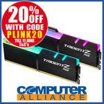 G.Skill 16GB DDR4 (2x8g) 3000MHz Trident Z RGB RAM Kit $167.20 + Delivery (Free with eBay Plus) @ Computer Alliance eBay