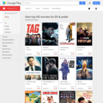Buy / Own HD Movies for $4.99 and $3.99 on Google Play