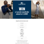 Win a $1,000 Gift Card from Lacoste