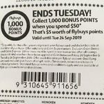 1,000 Bonus Flybuys Points (Worth $5) When You Spend $50 @ Coles (Stackable with Targeted Offers)