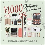 Win a $1,000 Homeware/Gift Voucher from Homing Instincts