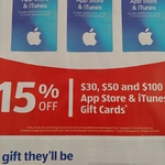 15% off iTunes & App Store Gift Cards @ ALDI