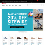Afterpay Day Sale - Further 20% off Everything (Free Shipping over $99) @ Shoe Warehouse Online
