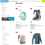 Up to 50% off Easybreath Full-Face Snorkelling Mask (from $25), Sports Bags (e.g. Adidas Bag $39) & Backpacks @ Decathlon
