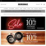 10% off Almost Sitewide at Minimax (Excludes Electrical, Tom Nixon, Wedgewood & Royal Doulton)
