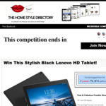 "Win A 10"" HD Screen Lenovo Tablet @ The Home Style Directory"