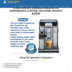 Win a De'longhi Primadonna Elite Experience Coffee Machine Worth $3299 @ Trusted Brands