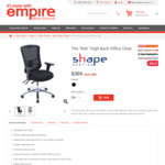 """[NSW] """"Met"""" High Back Office Chair @ $369 Pick-up / + Delivery (Rebranded Buro Metro II) @ Empire Furniture"""