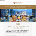 Free Travel Rewards Membership: Earn 2% Cash Back at over 1.5 Million Hotels, Resorts, Cruises and More @ Club 1 Hotels