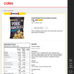 Gold Medal Pork Krackles 50g $1.80 (Was $2.15) @ Coles