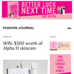 Win $500 Worth of Alpha H Products from Fashion Journal