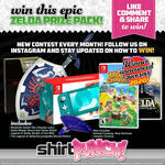 Win The July Zelda + Animal Crossing + Switch Lite Giveaway from ShirtPunch