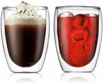 Bodum Double Wall 350ml Coffee Glasses (X2) $19.95 + Delivery ($0 with Prime/ $39 Spend) @ Amazon AU