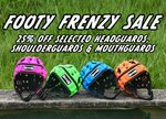 25% off a Wide Range of Football Headguards, Shoulderguards and Mouthguards @ Madison Sport