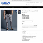 Anvil Light Terry Jogger Pants 2 for $30, Gildan Sweatpants 2 for $20 + $11 Delivery (Shipping from Sydney) @ Gildan Brands