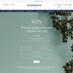 Win a $1,000 Gift Card from Sheridan