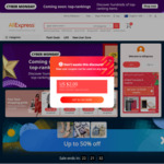 Coupon AliExpress till End of 2020 - New Social Media Users. US$4/AU$5.43 off US$5 Minimum Spend