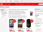20% off on Additional Phone, Galaxy S II/HTC Senation/Desire HD on a Vodafone 24 Month Contract