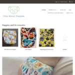 Cloth Nappies $22 Each (Usually $27, Min 3 Qty) + $8 Shipping (Free over $100) @ Only about Nappies